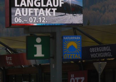 LED-Display Ötztal